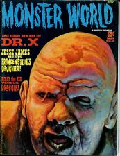 Monster Magazine Monster World No8 Dr.X Jesse James Universal Monsters by Warren