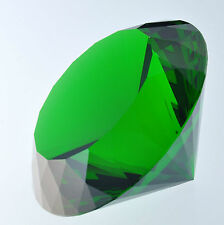 Big 80mm Crystal Green Paperweight Cut Glass Large Giant Diamond Jewelly Gifts