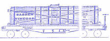 SASSEN VINEGAR 3K Gal TANK CAR HOn3 Model Railroad Unpainted Wood Kit TC3905