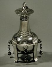 Chinese Export Silver Perfumer     Khecheong c1840               One of a Kind