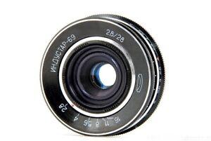RARE Vintage M39 INDUSTAR 69 f 28mm 1:2.8 Pancake Lens Nice Soviet USSR FB178