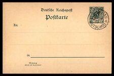 1901 China KIAUTSCHOU MAR 5PF GREEN STATIONERY ISSUE CARD