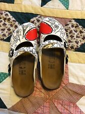 Birkis 38/5 Clogs Mules Paris Dorian Hearts
