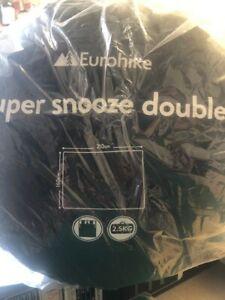Eurohike Super Snooze Double 160cm x 210cm - 2.5kg Sleeping Bag