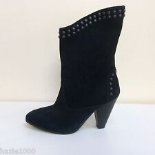 K & S Lilli black suede stud detail ankle boots, UK 7/EU 40, RRP £189, BNWB