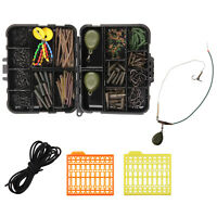 217Pcs Carp Fishing Accessories Set Carp Tackle Hooks Swivels Sleeves Stop Beads