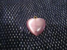 BELLA Pretty Pink Scintillante Ciondolo a forma di cuore con Tono Oro in Metallo Cattura