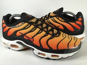 Nike Air Max Plus Tn OG Sunset Pimento Orange Tiger Black Mens Size 9.5 Rare