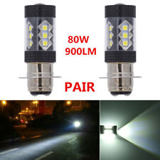 2x P15D 900LM 80W LED Headlight Projector Motorcycle Hi/Lo Bulb DRL Xenon White
