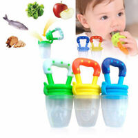 Toddler Baby Food Feeding Net Pocket Fresh Fruit Feeder Nibbler Teething Toys