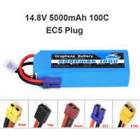 Yowoo Graphene 14.8V 4S Lipo Battery 5000mAh 100C for RC Heli Plane Truck Boat