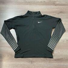 Nike Womens Element Flash Dri Fit 1/2 Half Zip Black Small 856608 010