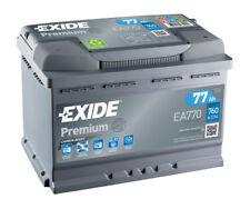 Exide Premium Car Battery 77ah Type 096 760cca 4 Years OEM Replacement