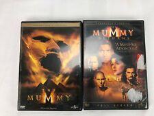The Mummy & Mummy Returns DVD Bundle Lot Brendan Fraser Rachel Weisz