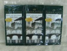 "Faber Castell 6 Pitt Artist Pens ""Shades Of Grey"" X 3 Packs ~ New"
