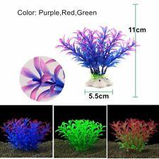 Plastic Artificial Aquarium Plants Accessories Fish Tank Water Grass Small Leaf
