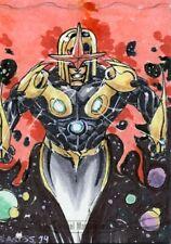 Marvel Masterpieces 2016 Sketch Card - CRIS SANTOS - NOVA