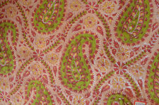 Hand Block Print Pure 100% Cotton Fabric Sanganeri Running 3 Yard Indian Pink
