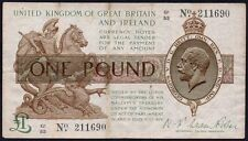 T31 Fisher 1923 £ 1 del tesoro nota * G1/53 211690 * GF + *