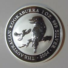2004 Australian Kookaburra...1 oz. .999 pure silver 1 dollar proof