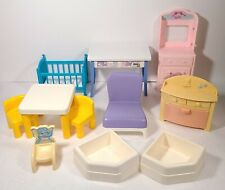 Lot of Plastic Doll House Furniture Little Tikes and Other Brands 1990s