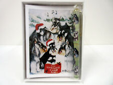 New Schnauzer Pet Dog Holiday 6 Greeting Cards Designer Pen Set & 6 Envelopes