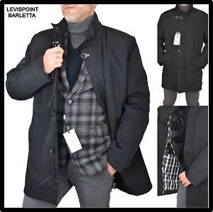 Giubbotto cappotto giaccone trench elegante da uomo invernale lungo nero XL XXL