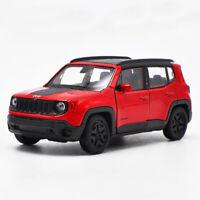 1/36 Jeep Renegade Trailhawk Die Cast Modellauto Spielzeug Sammlung Geschenk Rot