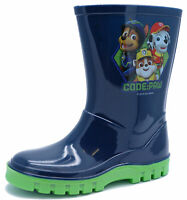 BOYS KIDS NAVY PAW PATROL WELLINGTON SPLASH RAIN BOOTS SCHOOL WELLIES SIZES 5-8
