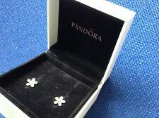 Genuine Pandora Flower Stud Earrings new