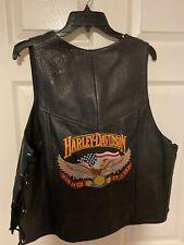 Harley Davidson Leather Vest - Large