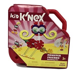 New Kid Knex Monster Friends Building Set Sealed In Carrying Case Ages 3+