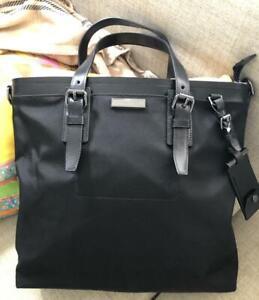 Michael Kors Men's Collection Large Black Nylon Slim Messenger Tote Bag $448