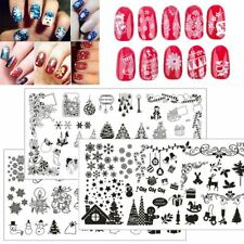 Christmas Nail Art Stamping Plates Image Stamp Template Manicure Stencil Decor