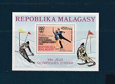 Madagascar  bloc  jeux olympiques Innesbruck  surchargé  1976  num: 14  **