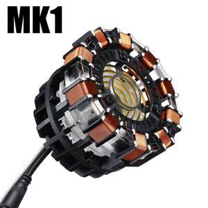 USA Stock 1:1 DIY Arc Reactor MK1 Model LED Chest Light USB Powered Movie Props