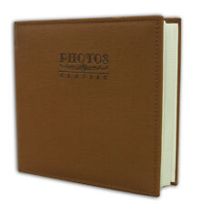 """Photo Album, Holds 200 4""""x6"""" pictures, 2 per page, Faux Leather Marron Brown"""