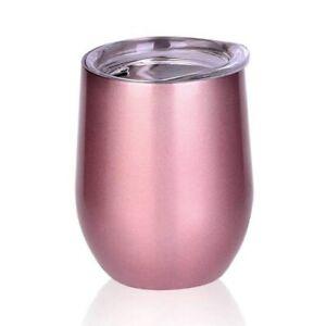 12oz Wine Glass Vacuum Tumbler Stainless Steel Coffee Mug Double Wall Cup
