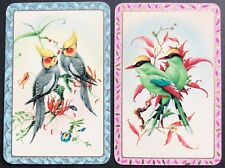 Pair Of Vintage Swap/Playing Cards - COLOURFUL BIRDS - Mint / Exc Cond