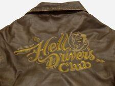 replay azul vaquero vintage chaqueta de cuero Hells conductor´s Club