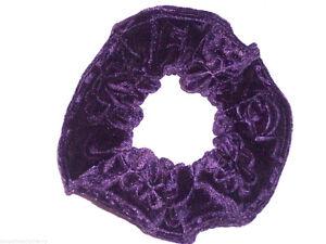 Hair Scrunchie Velvet Pink Black Red Gray Ivory Scrunchies by Sherry Ties
