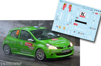 Decal 1:43 Lilian Vialle - RENAULT CLIO R3 - Rally Montecarlo 2012