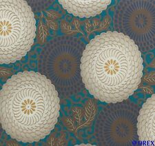 Tapete Vlies Ornament Retro braun Glanz Rasch Indian Summer 759082 (2,71€/1qm)