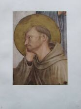 Fra Angelico: Hl. Franziskus Detail aus Kreuzigung - Kunstblatt 50er