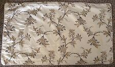 Ralph Lauren Plage D'Or King Pillow Sham Designer Cotton Brown Floral