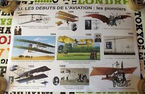 Objet de Métier Affiche scolaire Rossignol Pionniers de l'Aviation Automobiles