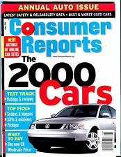 Consumer Reports Magazine April 2000 Cars EX No ML 051517nonjhe