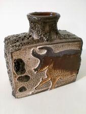 "70s scheurich cerámica"" 281/19"" jarrón ""Montignac"" West German Fat lava ceramic"