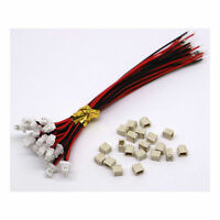 20SETS Mini Micro SH 1.0 JST 2-Pin Steckerstecker mit 100MM Kabel & Buchse