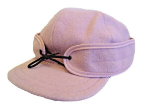 Stormy Kromer Hat Size 7 1/4 Pink Rare! Classic Style Wool Blend Lined Hunting